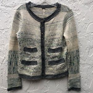 FREE PEOPLE Button Front Cardigan Sweater XS